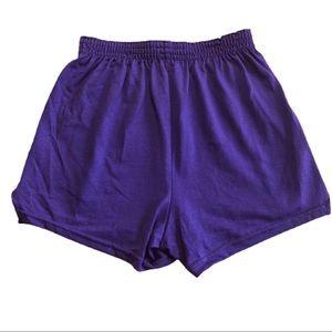 4/$20 Soffe Juniors Purple Athletic Dance Shorts